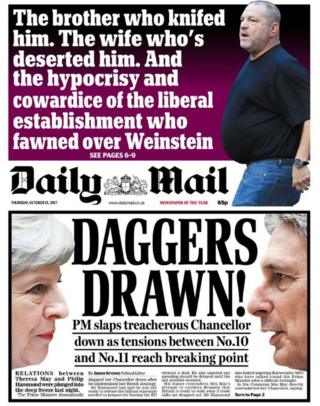 The Daily Mail front page