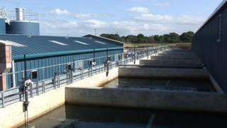 Dunore Point water treatment works in Antrim