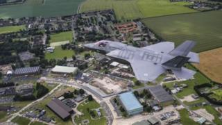 F-35B flying over Marham