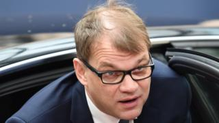 Finnish PM Juha Sipila (file pic)