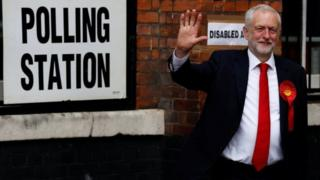 Jeremy Corbyn a voté dans sa circonscription à Islington