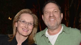 Meryl Streep with Harvey Weinstein in 2005