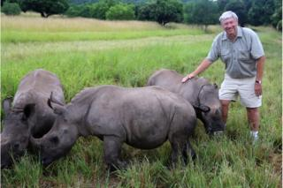 Ray Dearlove with some rhinos