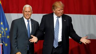 Pence and Trump