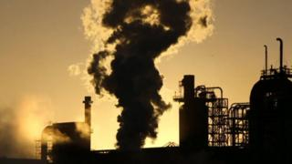 Silhouette photo of steelworks