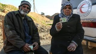 Doğu Guta'dan tahliye edilen Pakistanlı çift