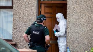 Property in Larne being searched