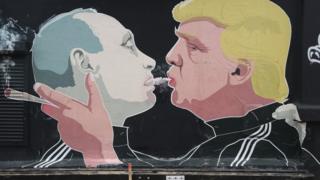 Граффити с Трампом и Путиным