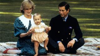 Diana, Charles and William