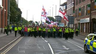 EDL march in Nottingham