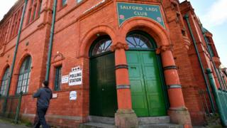 Salford Lads Club is a polling station