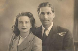 Sylvia and Kawas Nanavati, shortly after they got married in 1949