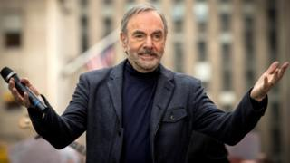 Singer Neil Diamond performs on NBC's Today show in New York in 2014