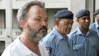 Peter Foster, pictured in Fiji in 2006, is facing claims of fraud in Australia