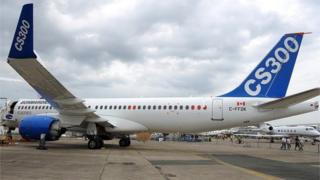 Canadian Bombardier Commercial Aircraft's new jetliner Bombardier CS300