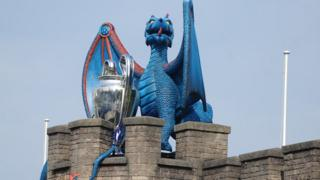 Dragon at Cardiff Castle