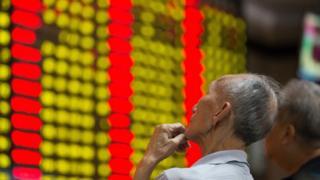 中国株式市場の株価ボード