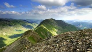 Viewing St Sunday Crag from Fairfield