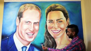 Welcome poster for Wills and Kate in India