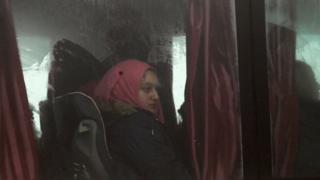 Personas evacuadas de las poblaciones de Foah Kefraya