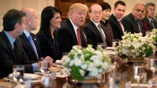 трамп и представители стран совбеза ООН