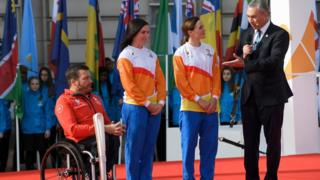 Kurt Fearnley, Anna Mears and Victoria Pendleton
