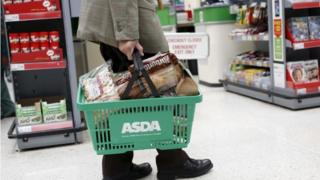 Man carrying Asda basket
