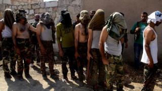 Suriye ordusuna teslim olduğu söylenen isyancı gruplar