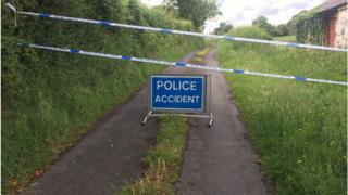 The site where the man's body was found was cordoned off by police