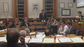 The council meeting in Havering on Wednesday night