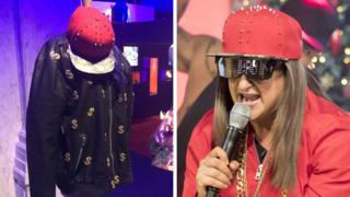 Honey G & outfit at British Music Experience