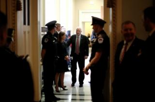 McCain in the halls of Congress