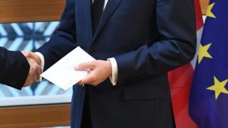 英國日前遞交要脫離歐盟的正式通知書