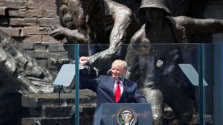 Tổng thống Donald Trump phát biểu hôm 6/7 tại Warsaw
