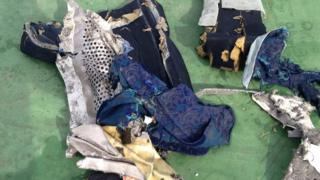 Egyptian army photograph of wreckage found during search for missing EgyptAir plane