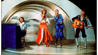 ABBA performing Waterloo in 1974
