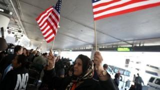 Havaalanında protesto