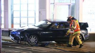 Maserati crash in Hove