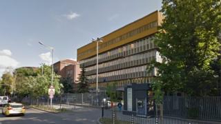 The Bulgarian National Radio building in Sofia