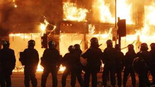 Tottenham during the 2011 summer riots