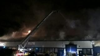 Fire at Northolt industrial estate