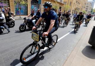 Прем'єр Лівану також проїхався на велосипеді під час відкриття ініціативи