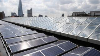 solar panels on Tate Modern