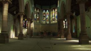 Interior of former church