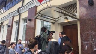 у штаба Навального в Москве 6.07.2017
