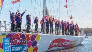 Derry clipper crew's confetti au revoir
