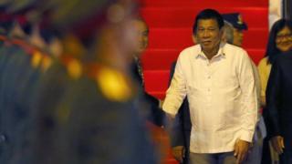 Rodrigo Duterte akiwasili Laos kwa mkutano mkuu wa Asean