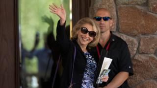 Shari Redstone, a trustee and a vice chairman of Viacom and CBS, attends the annual Allen & Company Sun Valley Conference, July 5, 2016 in Sun Valley, Idaho.