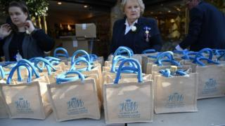 Gift bags from the Royal wedding