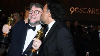 Guillermo del Toro y Alejandro González Iñárritu